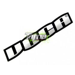 Voca Racing hõálló kipufogó matrica (11x4cm) (Króm hatású)